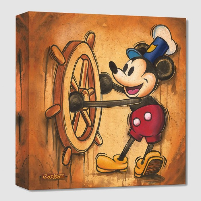 Trevor Carlton Happy Skipper From Steamboat Willie Gallery Wrapped Giclee On Canvas