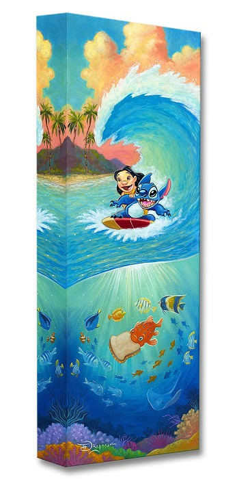 Tim Rogerson Hawaiian Roller Coaster From Lilo and Stitch Gallery Wrapped Giclee On Canvas