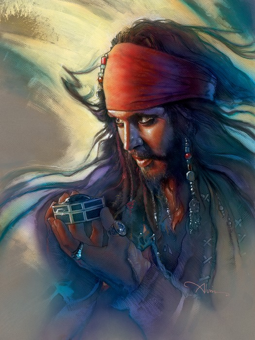 John Alvin Heart's Desire - From Disney Pirates of the Caribbean Giclee On Canvas