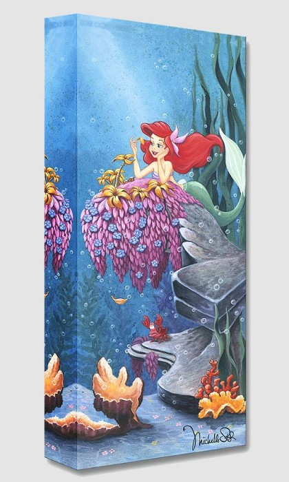 Michelle St Laurent He Loves Me From The Little Mermaid Gallery Wrapped Giclee On Canvas
