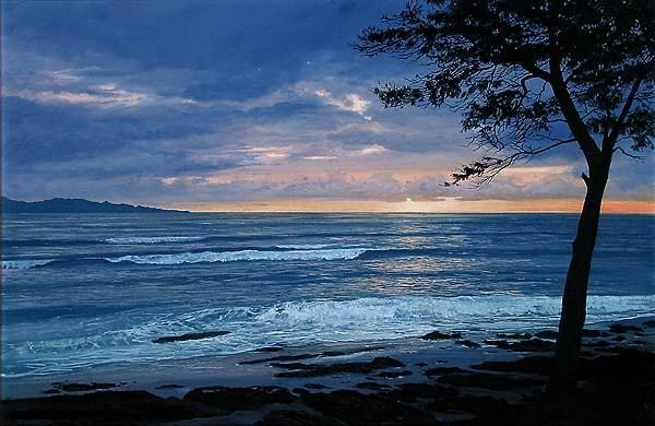Harrison Ellenshaw Oahu Sunrise Giclee On Canvas