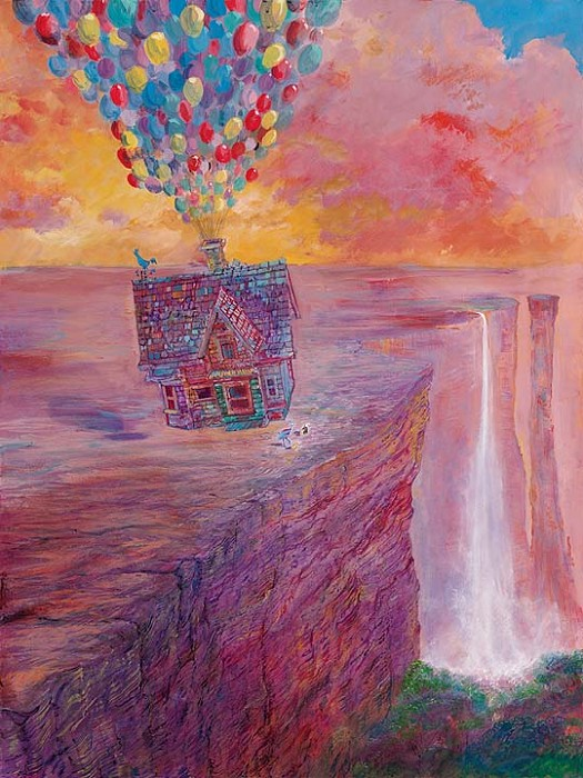 Harrison EllenshawA Promise Fulfilled Petite - From Disney UpHand-Embellished Giclee on Canvas