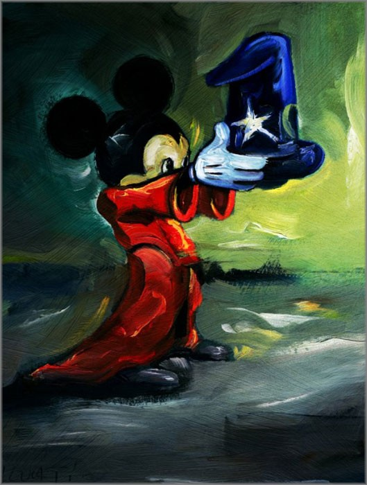Jim Salvati Here Is Your Hat - From Disney Fantasia Giclee On Canvas
