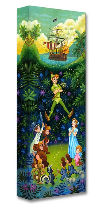 Tim Rogerson The Hero of Neverland From Peter Pan Gallery Wrapped Giclee On Canvas