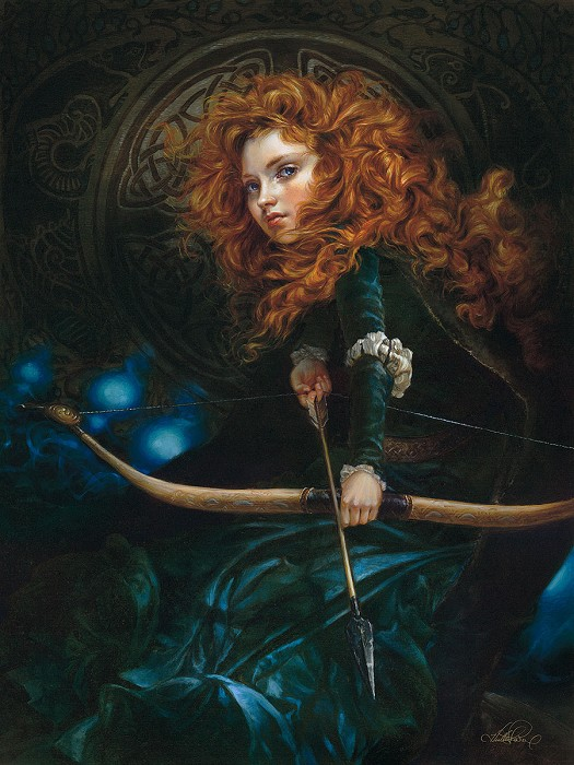 Heather TheurerHer Father's Daughter - From BraveHand-Embellished Giclee on Canvas