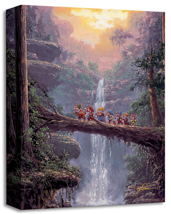 Rodel GonzalezHomeward Bound From Snow White And The Seven DwarfsGallery Wrapped Giclee On Canvas
