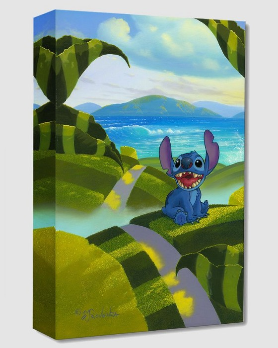 Michael Prozenza Home From Lilo And Stitch Gallery Wrapped Giclee On Canvas