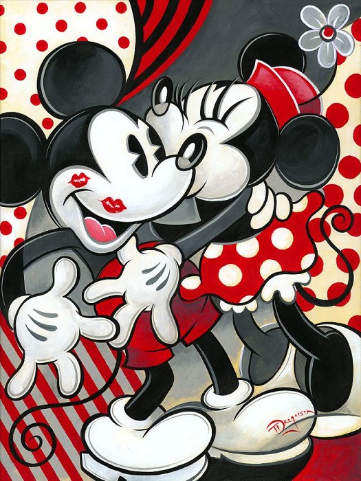 Tim RogersonHugs and KissesHand-Embellished Giclee on Canvas