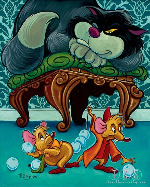 Tim Rogerson Impending Doom - From Disney Cinderella Giclee On Canvas