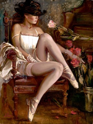 Irene SheriIntermissionHand-Embellished Giclee on Canvas