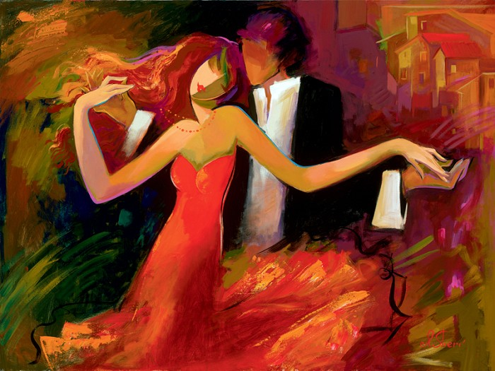 Irene Sheri Swept Away Giclee On Canvas