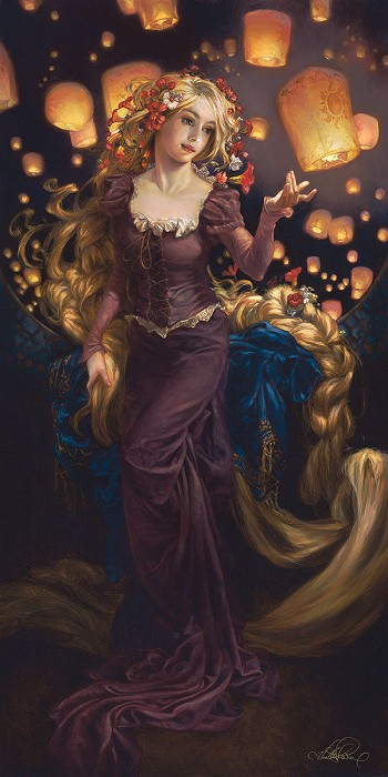 Heather Theurer I See the Light Hand-Embellished Giclee on Canvas