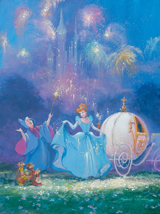 James Coleman Magic Hour - From Disney Cinderella Giclee On Canvas