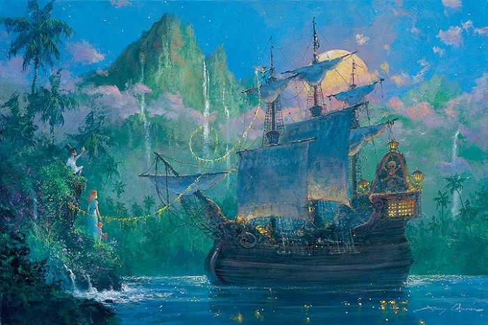 James Coleman Pan on Board - From Disney Peter Pan Giclee On Canvas