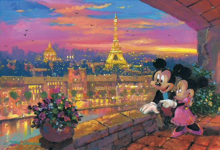 James ColemanA Paris SunsetHand-Embellished Giclee on Canvas