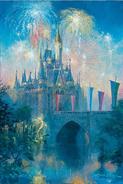 James Coleman Walt Disney World Castle Giclee On Canvas