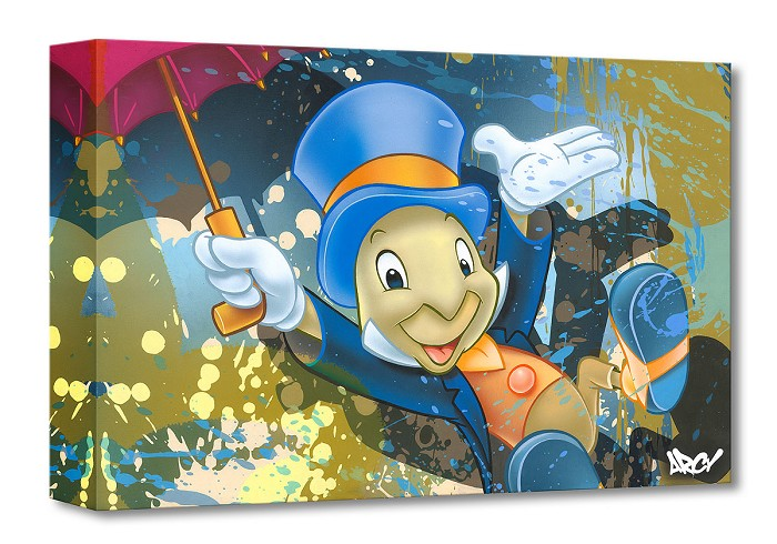 Arcy Jiminy Cricket From Pinocchio Gallery Wrapped Giclee On Canvas