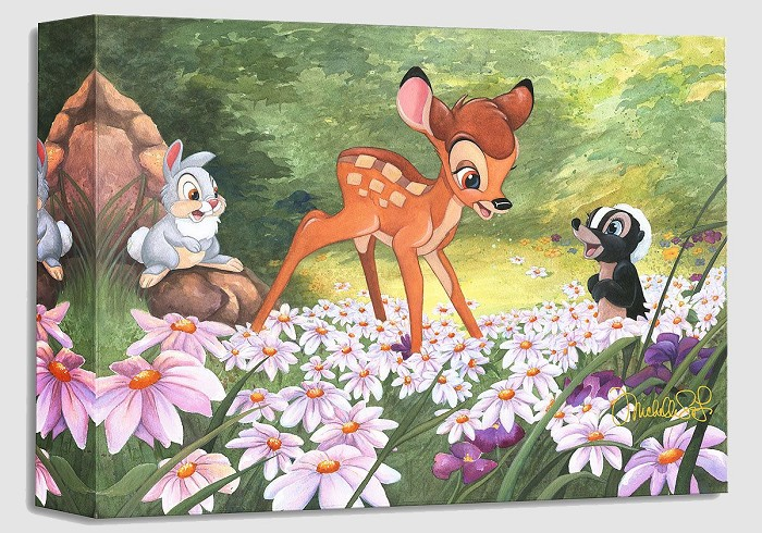 Michelle St Laurent The Joy a Flower Brings From Bambi Gallery Wrapped Giclee On Canvas