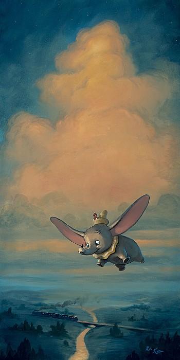 Rob Kaz Joy of FlightHand-Embellished Giclee on Canvas