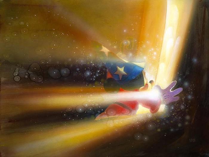 John RoweBeyond The Door - From Disney FantasiaGiclee On Canvas