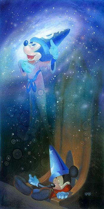 John Rowe The Flight Of Fantasy - From Disney Fantasia Hand-Embellished Giclee on Canvas