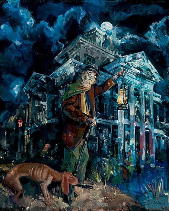 Jim Salvati Haunted Giclee On Canvas