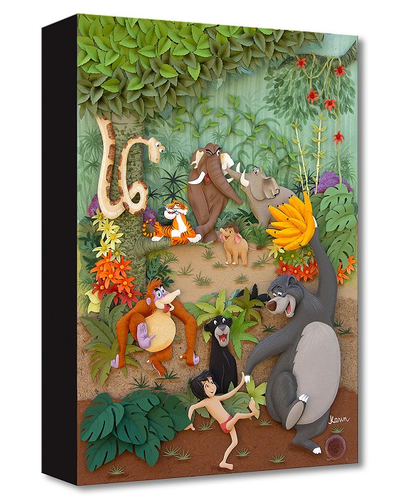 Trevor Carlton Jungle Jamboree Gallery Wrapped Giclee On Canvas