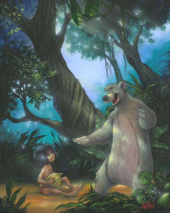 James C MulliganJungle VIPs From The Jungle Book Hand-Embellished Giclee on Canvas