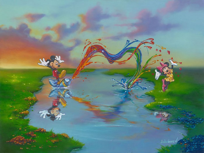 Jim Warren A Message to Minnie Hand-Embellished Giclee on Canvas