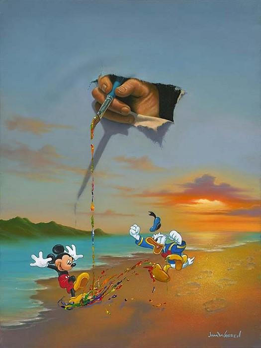 Jim WarrenWalt's Magic BrushHand-Embellished Giclee on Canvas