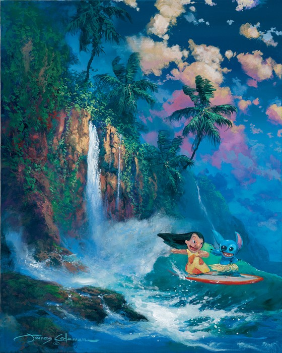 James ColemanKauai Dream - From Disney Lilo and StitchGiclee On Canvas