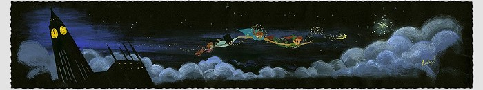 Lorelay Bove Over the Clouds - From Disney Peter Pan Giclee On Paper