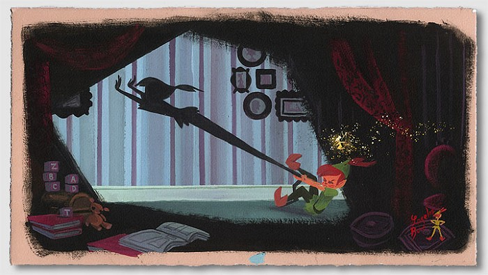 Lorelay Bove Peters Shadow - From Disney Peter Pan Giclee On Paper