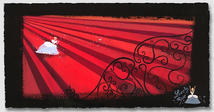 Lorelay Bove Red Staircase Giclee On Paper