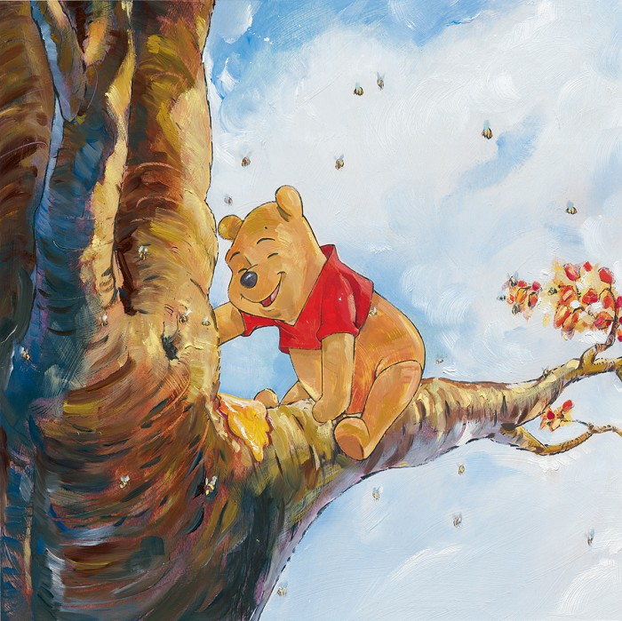 Jim Salvati Out On A Limb - From Disney Winnie the Pooh Giclee On Canvas