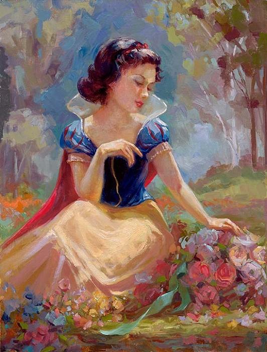 Lisa KeeneGathering FlowersHand-Embellished Giclee on Canvas