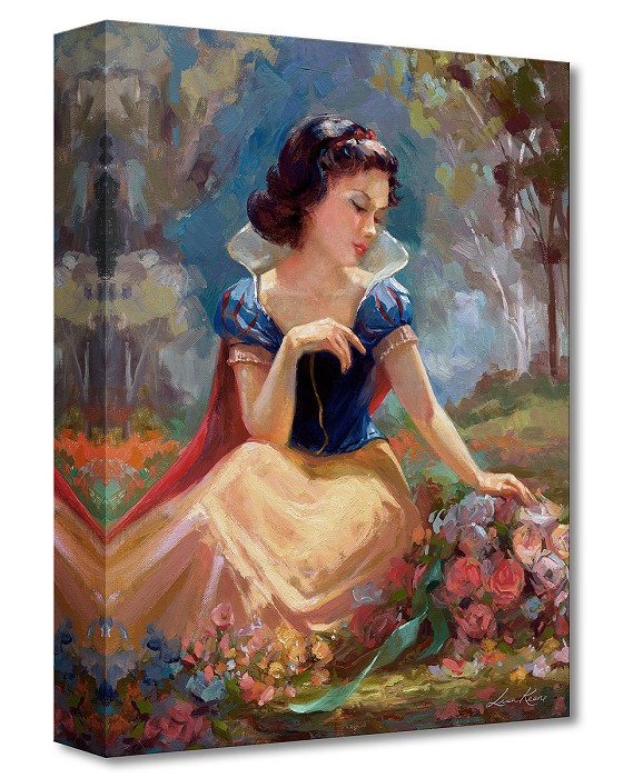 Lisa Keene Gathering Flowers From Snow White and the Seven Dwarfs Gallery Wrapped Giclee On Canvas