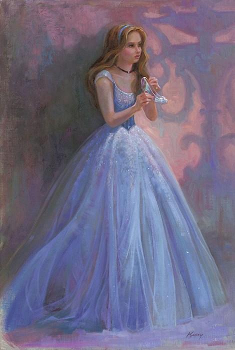 Lisa KeeneGlass SlipperHand-Embellished Giclee on Canvas