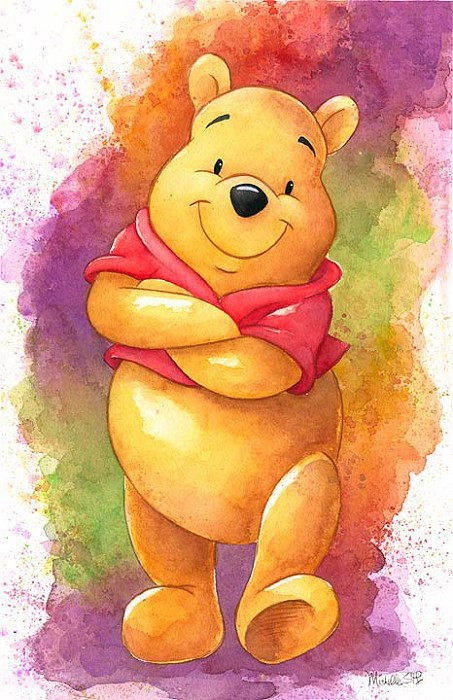 Michelle St Laurent Lovable Bear - From Disney Winnie the Pooh Hand-Embellished Giclee on Canvas