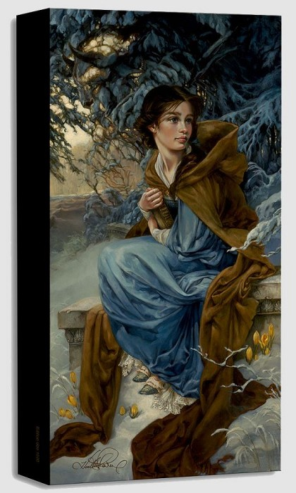 Heather Theurer Love Blooms in Winter Gallery Wrapped Giclee On Canvas