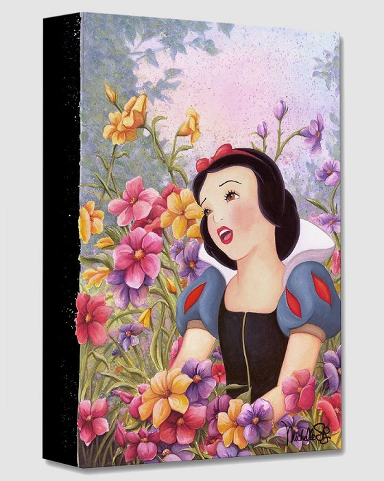 Michelle St Laurent Love in Full Bloom From Snow White And The Seven Dwarfs Gallery Wrapped Giclee On Canvas