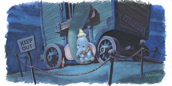 Mike PerazaMothers Lullaby - From Disney DumboWater Color On Gouache Paper