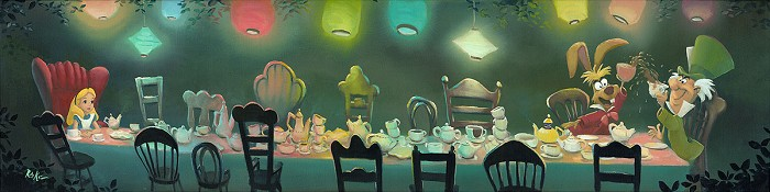 Rob Kaz  A Mad Tea Party - From Disney Alice in Wonderland Hand-Embellished Giclee on Canvas