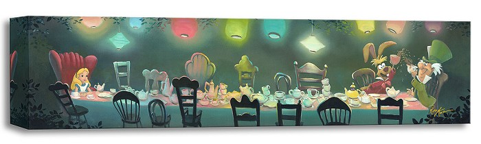 Rob Kaz  A Mad Tea Party - From Disney Alice in Wonderland Gallery Wrapped Giclee On Canvas
