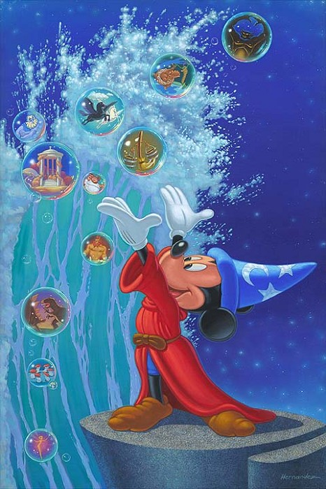 Manuel Hernandez Magical Sea - From Disney Fantasia Hand-Embellished Giclee on Canvas