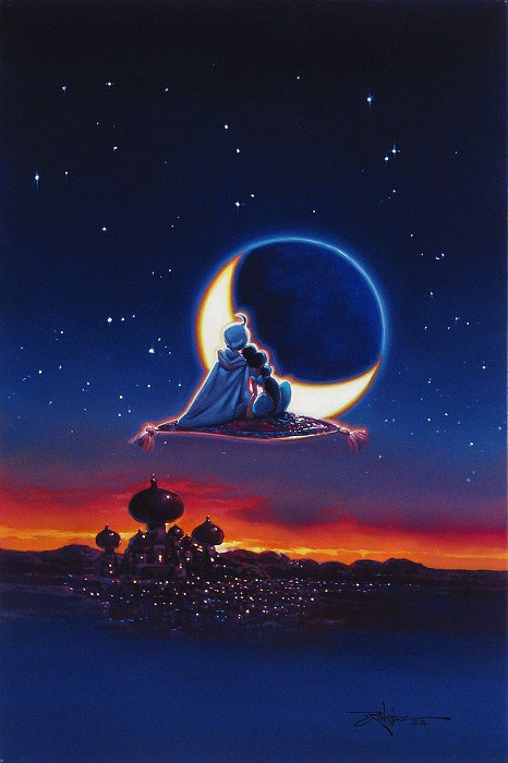 Rodel Gonzalez Magical Journey - From Movie Aladdin  Hand-Embellished Giclee on Canvas
