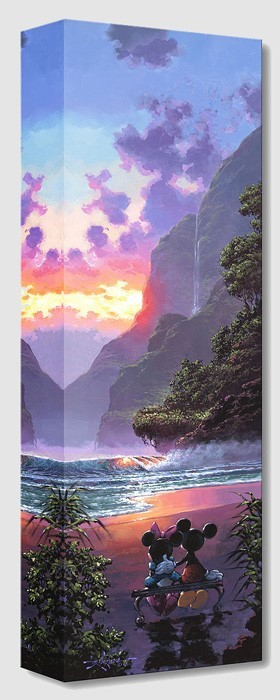 Rodel Gonzalez Majestic Island From Mickey And Minnie Gallery Wrapped Giclee On Canvas