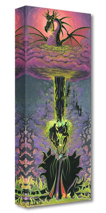 Michelle St Laurent Maleficent's Transformation Gallery Wrapped Giclee On Canvas