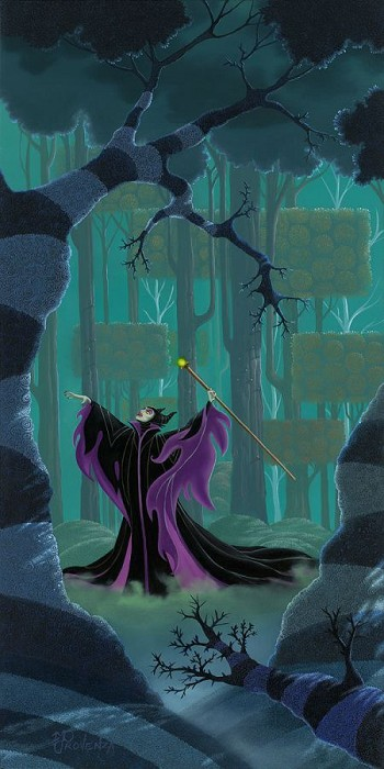 Michael Prozenza Maleficent Summons the Power Hand-Embellished Giclee on Canvas