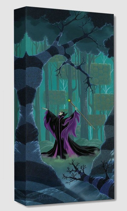 Michael Prozenza Maleficent Summons the Power From Sleeping Beauty Gallery Wrapped Giclee On Canvas